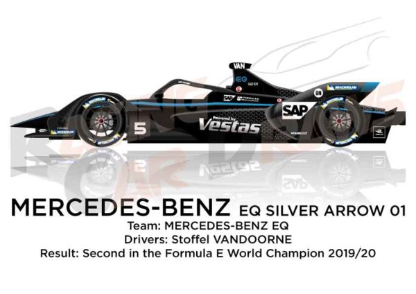 Mercedes-Benz EQ Silver Arrow 01 n.5 second Formula E Champion 2020
