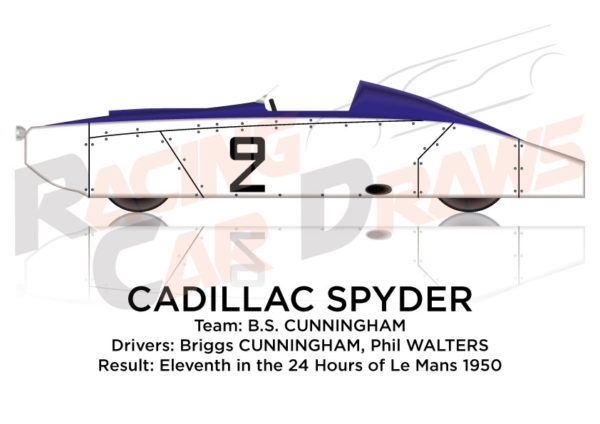 Cadillac Spyder n.2 eleventh in the 24 hours of Le Mans 1950