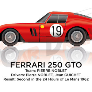 Ferrari 250 GTO n.19 second in the 24 Hours of Le Mans 1962
