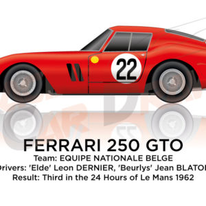 Ferrari 250 GTO n.22 third in the 24 Hours of Le Mans 1962