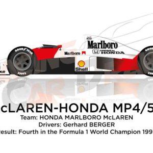 McLaren - Honda MP4/5B n.28 fourth in Formula 1 World Champion 1990