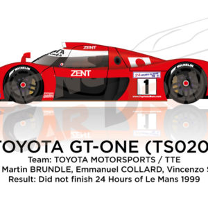 Toyota Gt-one TS020 n.1 did not finish at the 24 Hours of Le Mans 1999