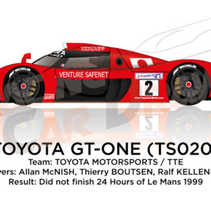 Toyota Gt-one TS020 n.2 did not finish at the 24 Hours of Le Mans 1999