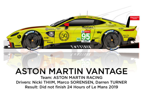 Aston Martin Vantage n.95 did not finish 24 hours of Le Mans 2019