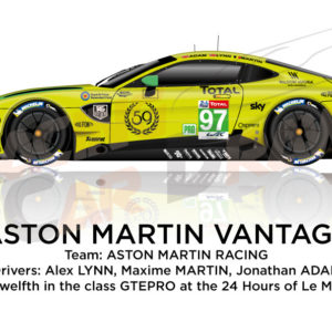 Aston Martin Vantage n.97 fourty-four in the 24 hours of Le Mans 2019