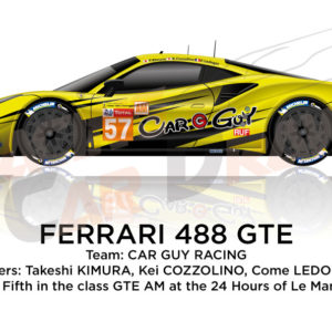 Ferrari 488 GTE n.57 thirty-fifth in the 24 Hours of Le Mans 2019