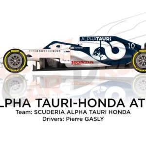 Alpha Tauri - Honda AT01 n.10 Formula 1 World Champion 2020