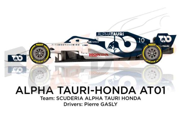 Alpha Tauri - Honda AT01 n.10 Formula 1 World Champion 2020