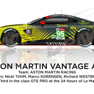 Aston Martin Vantage AMR n.95 twenty-second in the 24 hours of Le Mans 2020