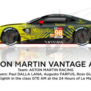 Aston Martin Vantage AMR n.98 in the 24 hours of Le Mans 2020