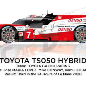 Toyota Hybrid TS050 n.7 third 24 Hours of Le Mans 2020