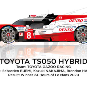 Toyota Hybrid TS050 n.8 winner 24 Hours of Le Mans 2020