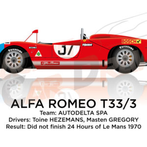 Alfa Romeo T33/3 n.37 did not finish 24 Hours of Le Mans 1970