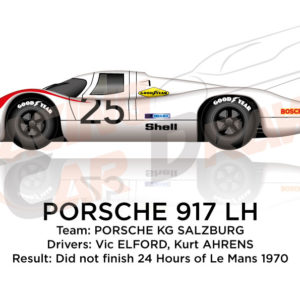 Porsche 917 LH n.25 did not finish at the 24 Hours of Le Mans 1970
