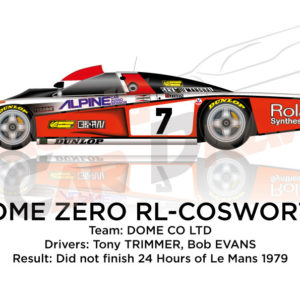 Dome Zero RL - Cosworth n.7 did not finish 24 Hours of Le Mans 1979