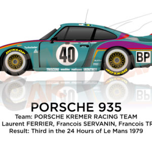 Porsche 935 n.40 third in the 24 hours of Le Mans 1979