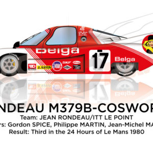 Rondeau M379B Cosworth n.17 third in the 24 Hours of Le Mans 1980