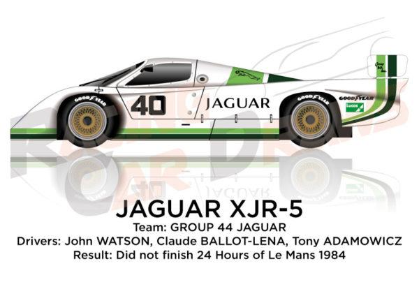 Jaguar XJR-5 n.40 did not finish 24 Hours of Le Mans 1984