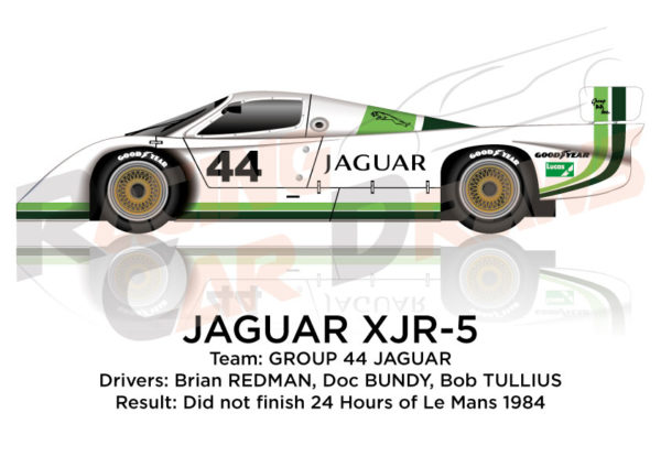 Jaguar XJR-5 n.44 did not finish 24 Hours of Le Mans 1984