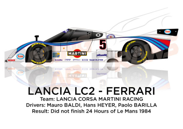 Lancia LC2 - Ferrari n.5 did not finish 24 Hours of Le Mans 1984