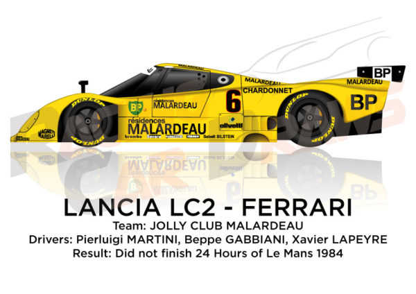 Lancia LC2 - Ferrari n.6 did not finish 24 Hours of Le Mans 1984