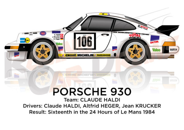 Porsche 930 n.106 sixteenth in the 24 hours of Le Mans 1984