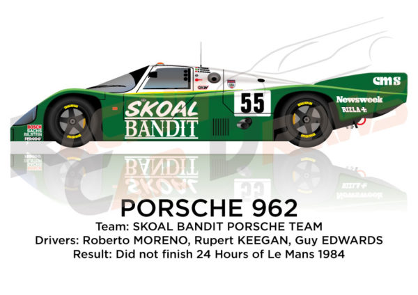 Porsche 962 n.55 did not finish 24 Hours of Le Mans 1984