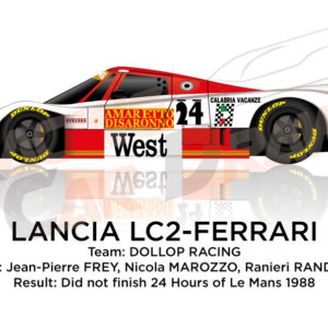 Lancia LC2 - Ferrari n.24 did not finish 24 Hours of Le Mans 1988