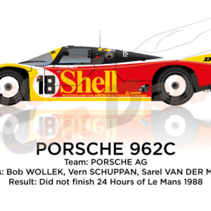 Porsche 962C n.18 did not finish 24 hours of Le Mans 1988