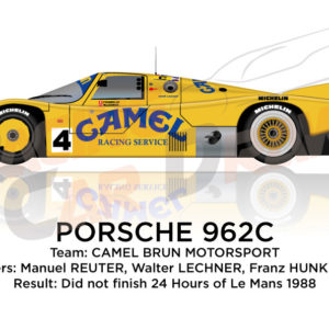 Porsche 962C n.4 did not finish 24 hours of Le Mans 1988