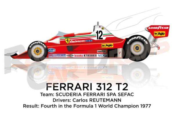 Ferrari 312 T2 n.12 fourth in the Formula 1 World Champion 1977