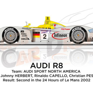 Audi R8 n.2 team Joest second in the 24 Hours of Le Mans 2002
