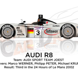 Audi R8 n.3 team Joest third in the 24 Hours of Le Mans 2002