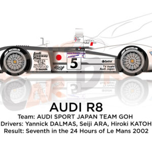 Audi R8 n.5 team Goh seventh in the 24 Hours of Le Mans 2002