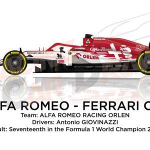 Alfa Romeo - Ferrari C39 n.99 Formula 1 2020 driver Antonio Giovinazzi