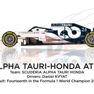Alpha Tauri - Honda AT01 n.26 Formula 1 World Champion 2020