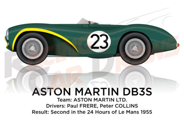 Aston Martin DB3S n.23 second 24 Hours of Le Mans 1955