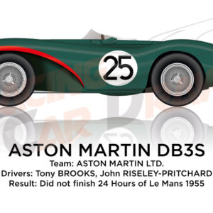 Aston Martin DB3S n.25 did not finish 24 Hours of Le Mans 1955