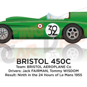 Bristol 450C n.32 ninth in the 24 Hours of Le Mans 1955
