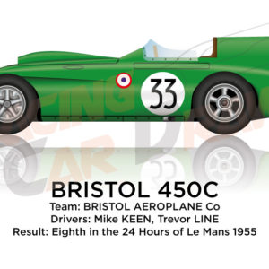 Bristol 450C n.33 eighth in the 24 Hours of Le Mans 1955