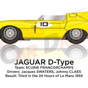 Jaguar D-Type n.10 third 24 Hours of Le Mans 1955