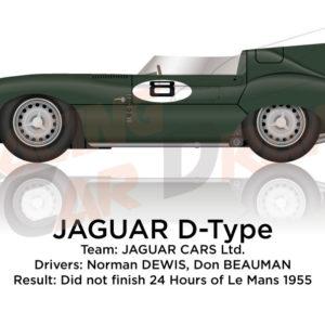 Jaguar D-Type n.8 did not finish 24 Hours of Le Mans 1955