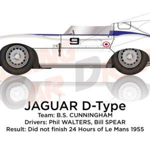 Jaguar D-Type n.9 did not finish 24 Hours of Le Mans 1955