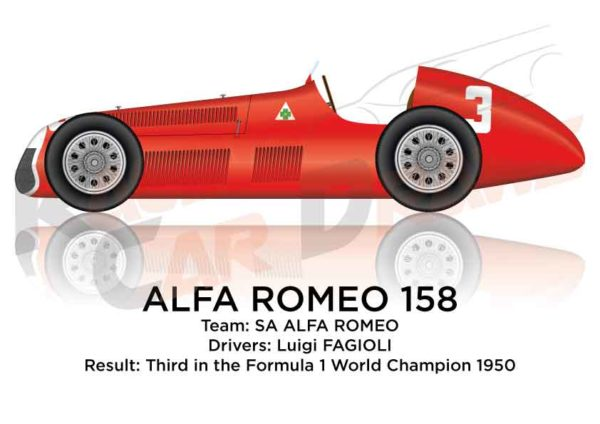 Alfa Romeo 158 of Fagioli third in the Formula 1 World Champion 1950