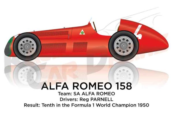 Alfa Romeo 158 of Parnell tenth in the Formula 1 World Champion 1950