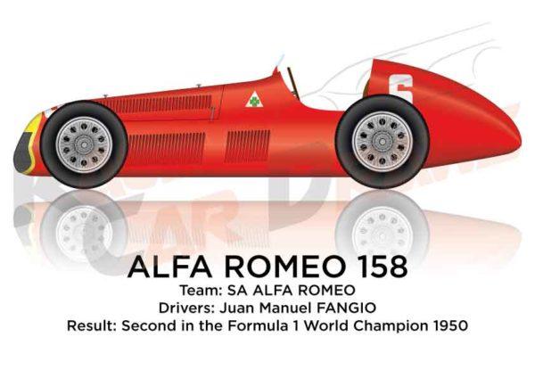 Alfa Romeo 158 of Fangio second in the Formula 1 World Champion 1950