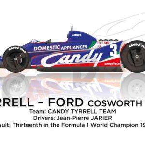 Tyrrell - Ford Cosworth 010 n.3 thirteenth Formula 1 World Champion 1980