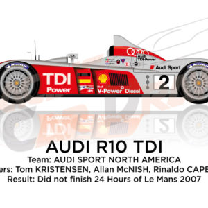 Audi R10 TDI n.2 did not finish 24 Hours of Le Mans 2007