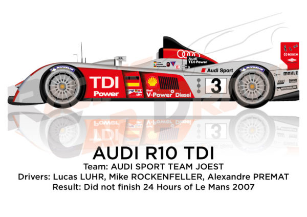 Audi R10 TDI n.3 did not finish 24 Hours of Le Mans 2007