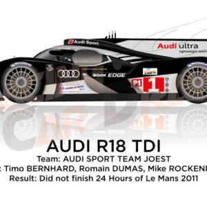 Audi R18 TDI n.1 did not finish 24 Hours of Le Mans 2011